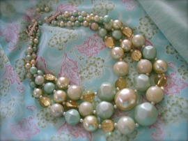 Vintage Seafoam Necklace