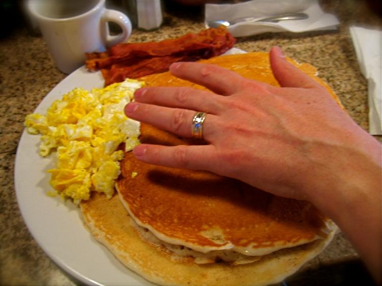 Them are BIG Pancakes