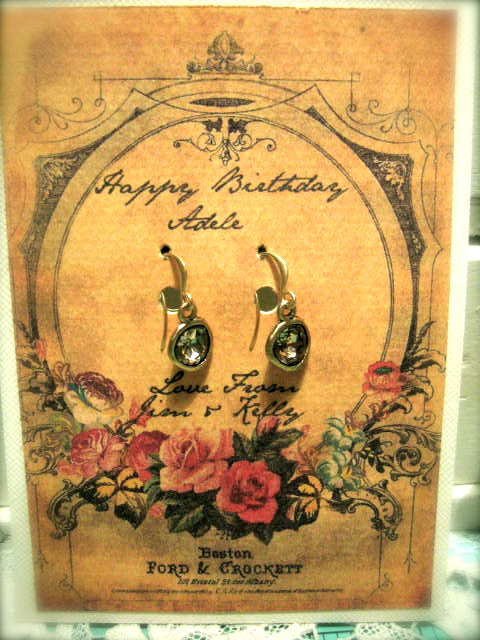 Personalized Earring Card at Boomdeeadda