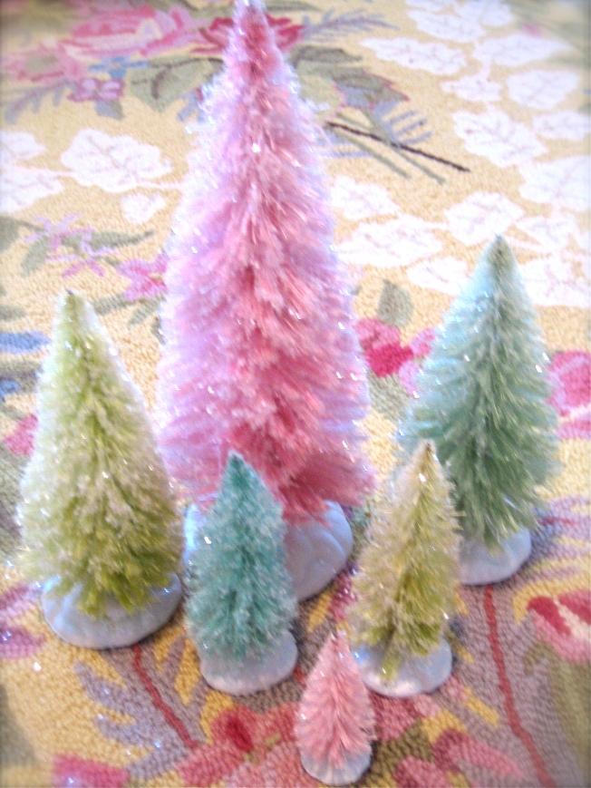 Custom Dyed Bottle Brush Trees