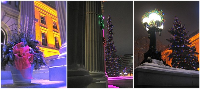 The Alberta Legislative grounds was all a glow.
