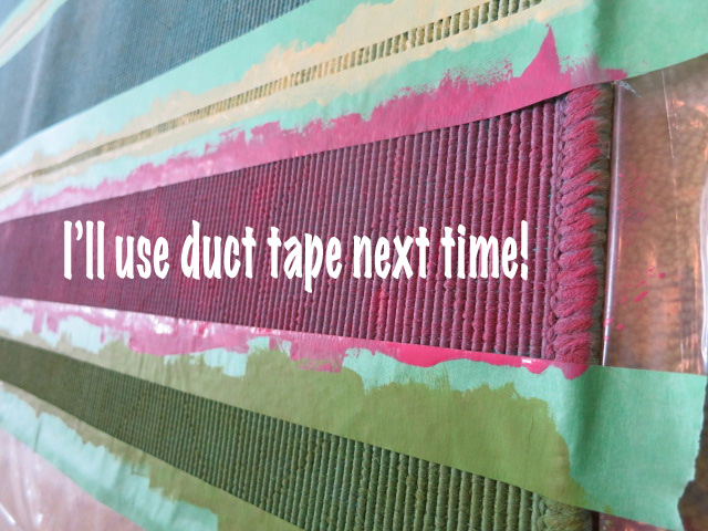 duct tape would stick better