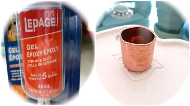 Epoxy Glue and copper Fitting
