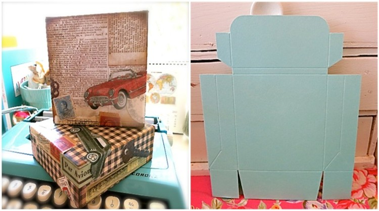 Box's from Paper Source, Covered With A Vintage Vibe