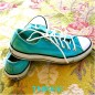 Aqua Converse Sneakers, Custom Dyed