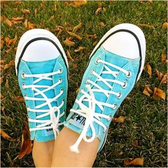 Aqua Converse Sneakers