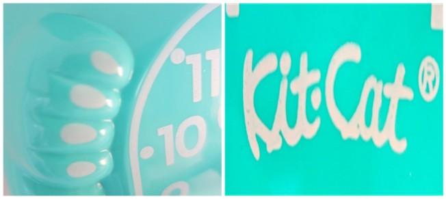 Kit Cat - Turquoise Clock