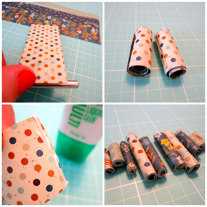 Rolled Scrapbook Paper