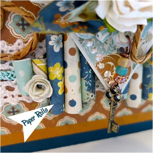 Paper Rolls Scrap Card Making