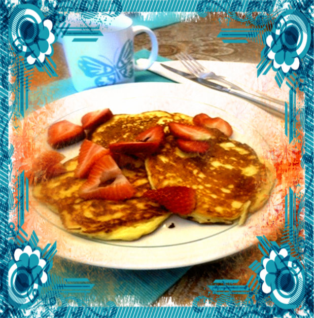 Click here for the recipe - Lemon Ricotta Pancakes