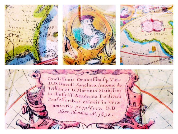 vintage map tissue