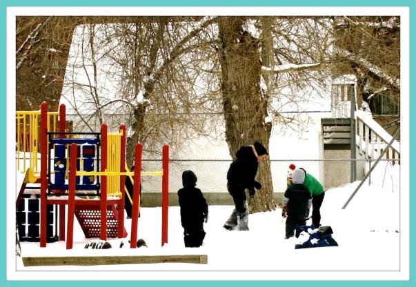 Snowy Playground Fun