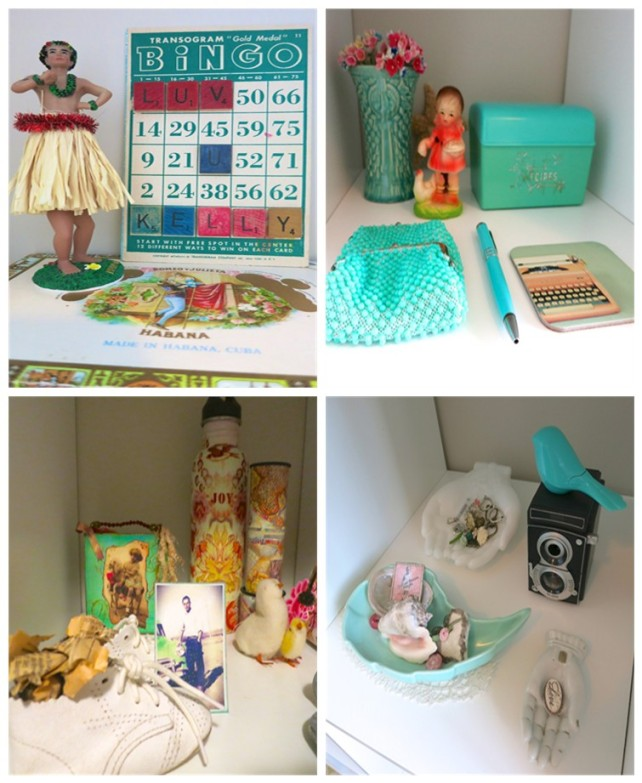 Collectables on display