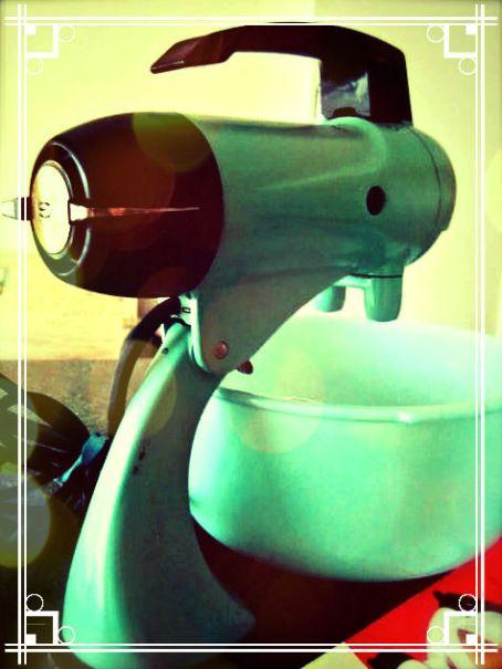 Vintage Aqua Sunbeam Mixer
