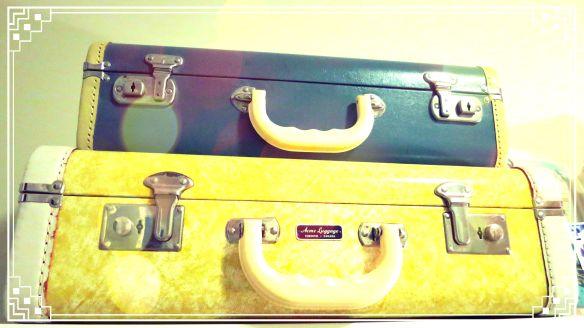 Aqua Vintage Luggage