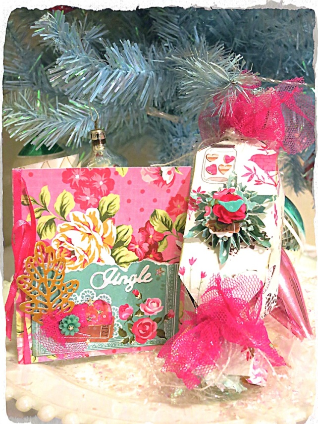 Christmas Wrap with Vintage style