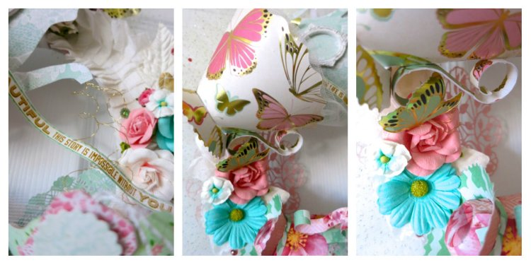 Tea Wreath Collage