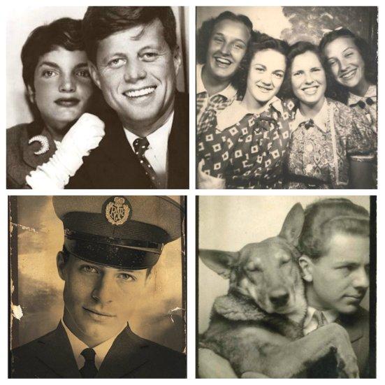 vintage photobooth collage