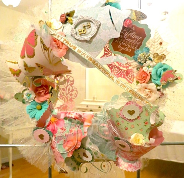 Vintage Tea Party Wreath