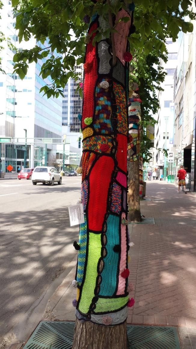 downtown Yarn Bombing