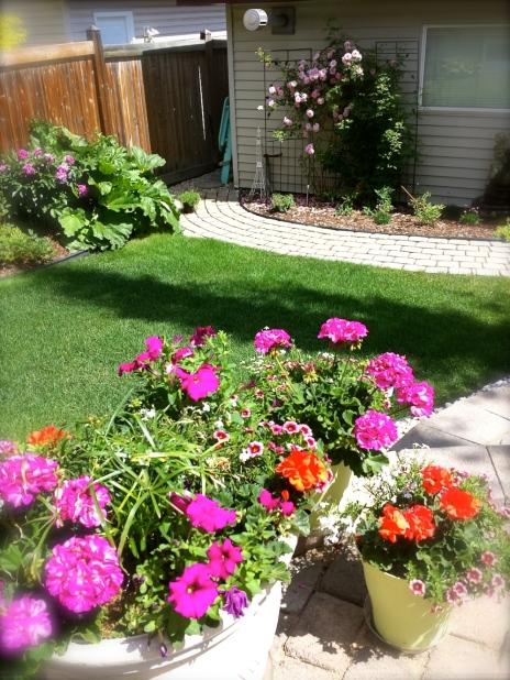 Worked in the garden