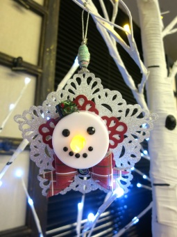 Tea Light Snowmana