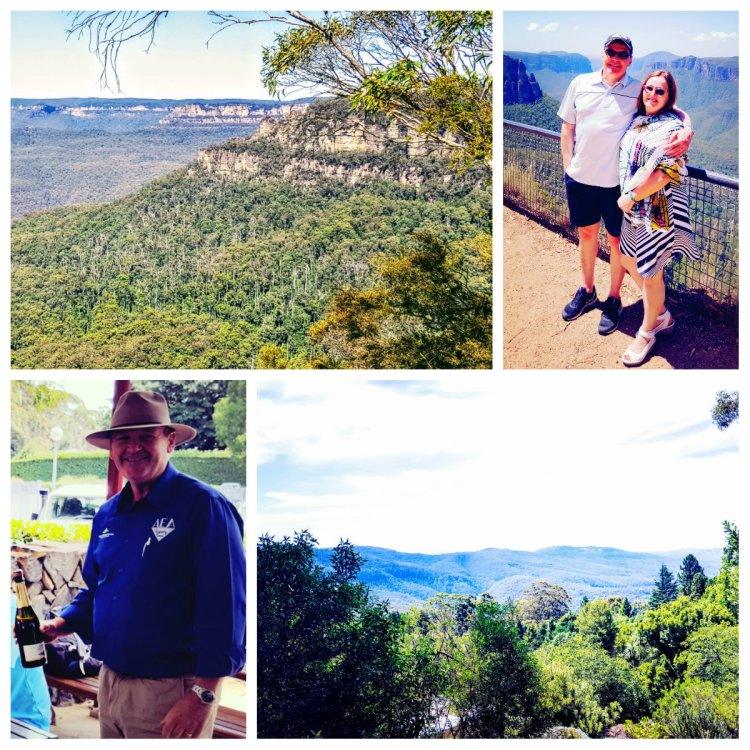 blue mountain collage
